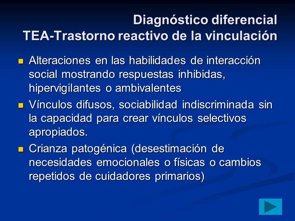 Diagnóstico diferencial TEA-Trastorno reactivo de la vinculación