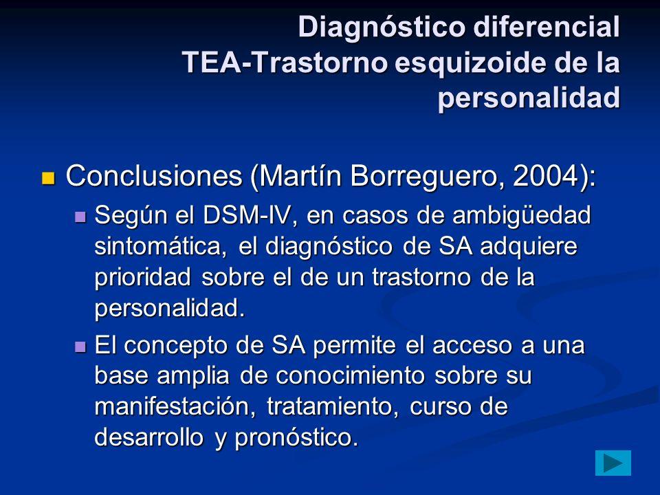 Diagnóstico diferencial TEA-Trastorno esquizoide de la personalidad