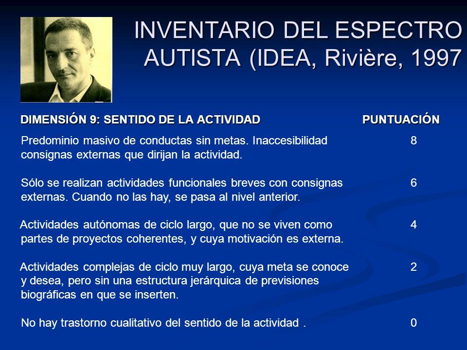 INVENTARIO DEL ESPECTRO AUTISTA (IDEA, Rivière, 1997