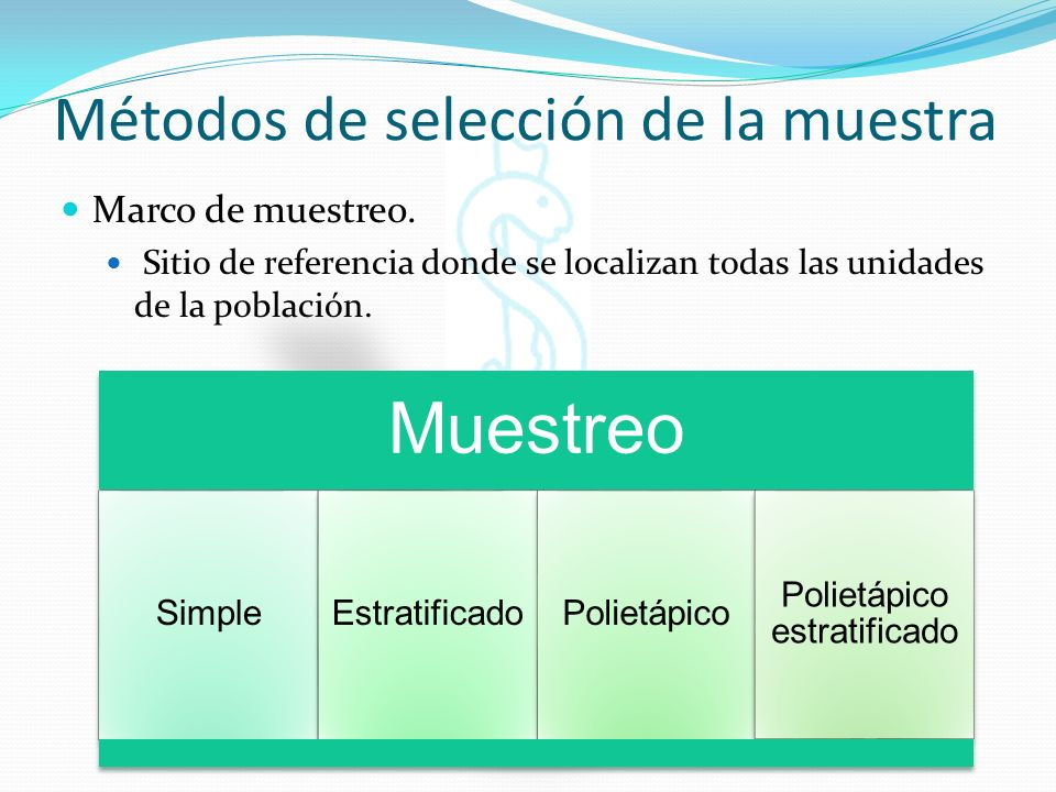 Métodos de selección de la muestra