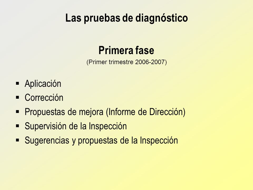 Las pruebas de diagnóstico