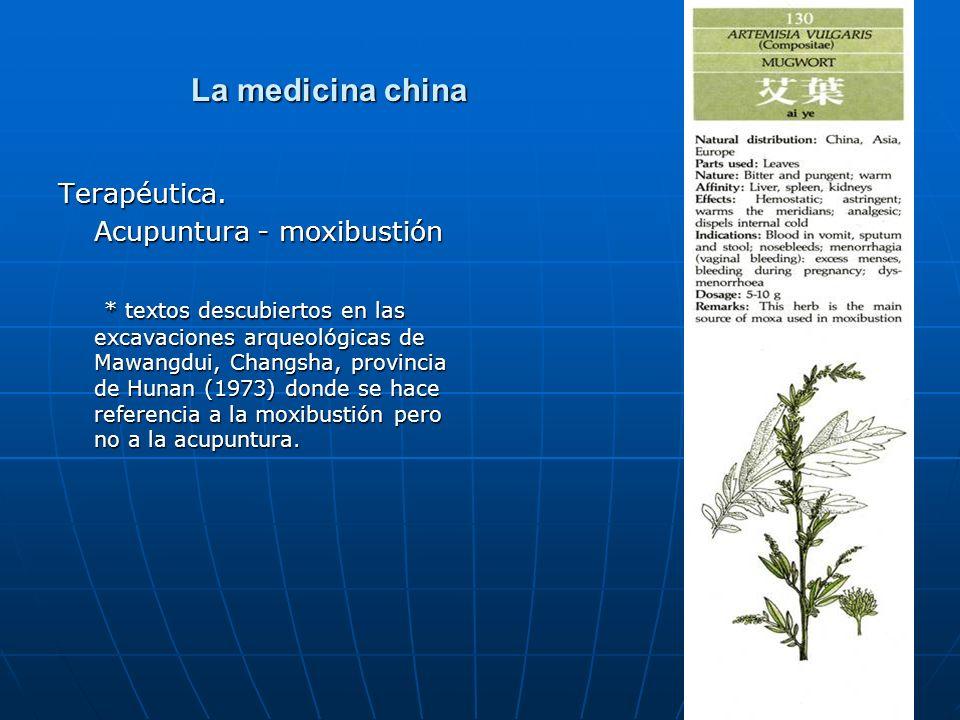 La medicina china Terapéutica. Acupuntura - moxibustión