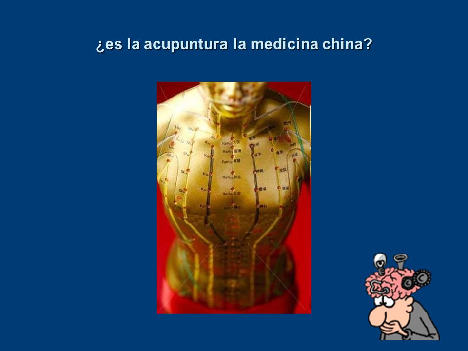 ¿es la acupuntura la medicina china