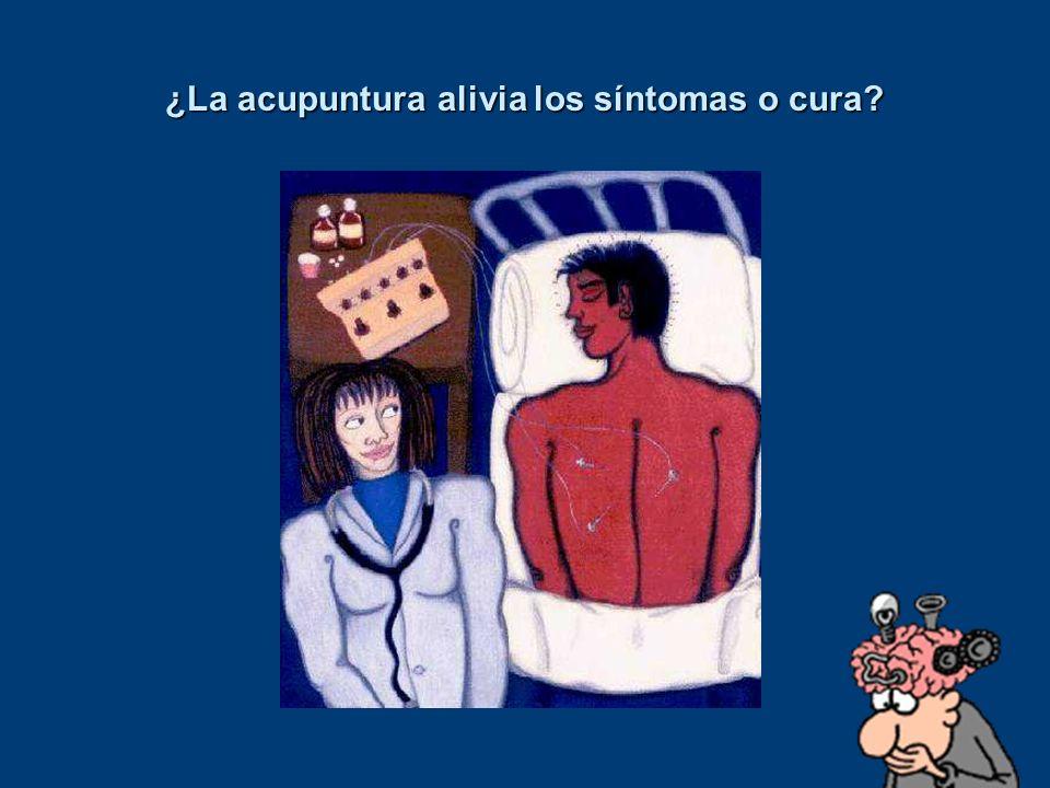 ¿La acupuntura alivia los síntomas o cura