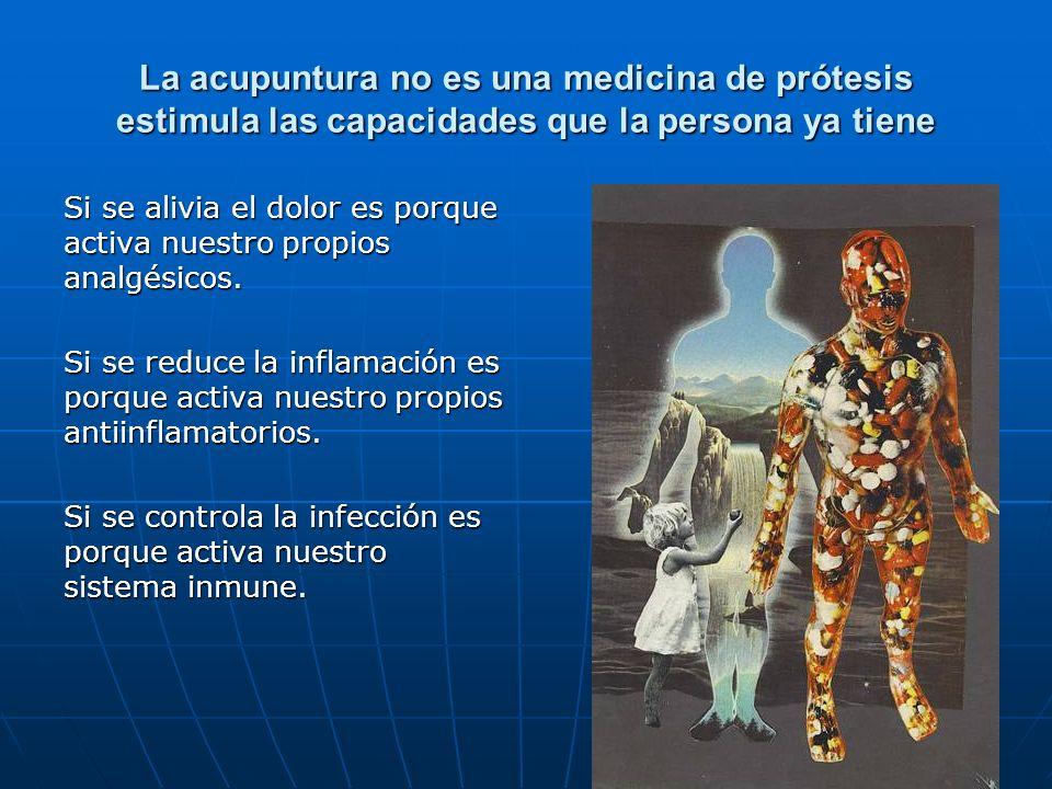 La acupuntura no es una medicina de prótesis estimula las capacidades que la persona ya tiene