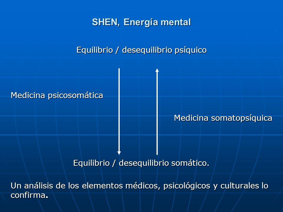 SHEN, Energía mental Equilibrio / desequilibrio psíquico
