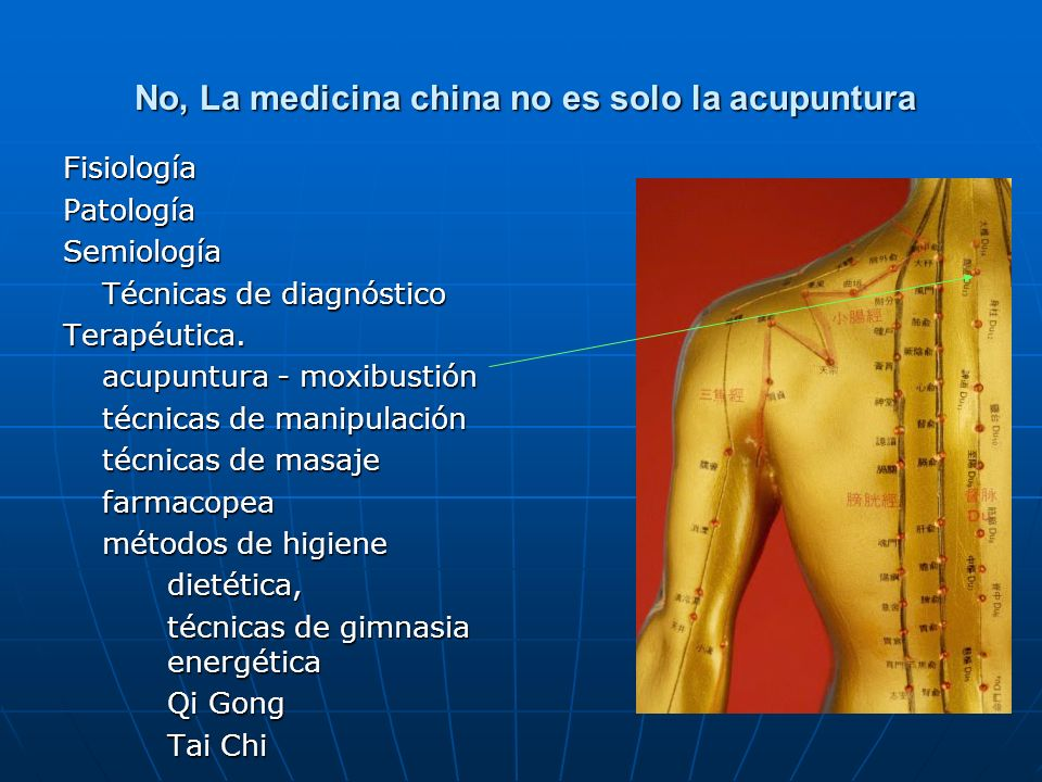 No, La medicina china no es solo la acupuntura