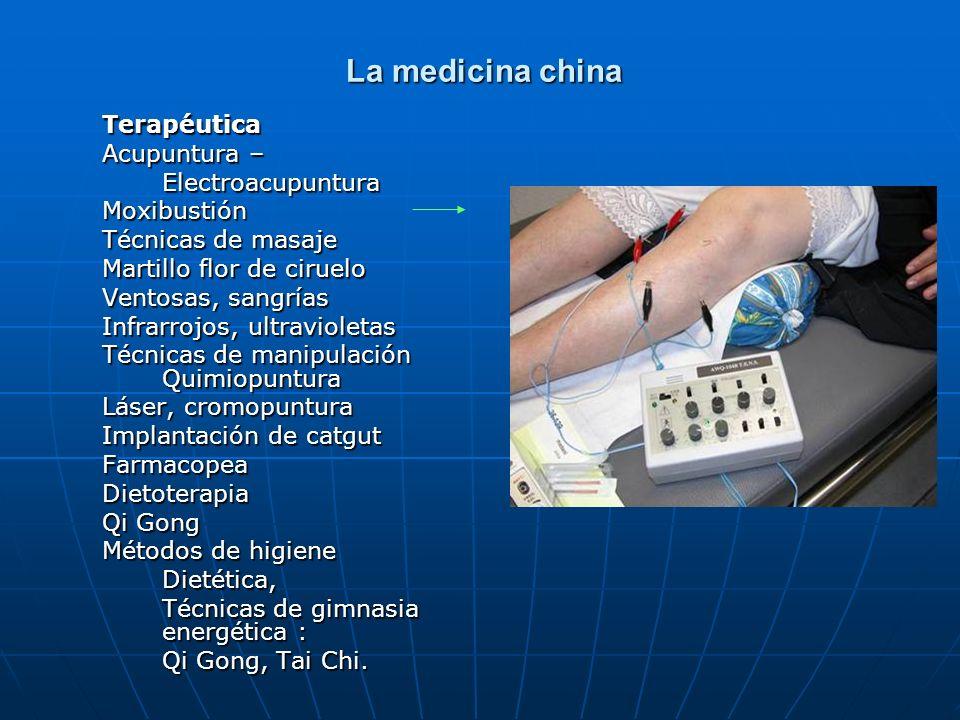La medicina china Terapéutica Acupuntura – Electroacupuntura