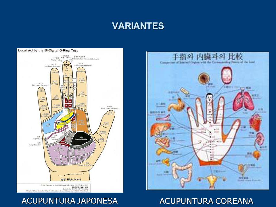 VARIANTES ACUPUNTURA JAPONESA ACUPUNTURA COREANA