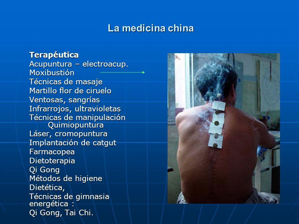 La medicina china Terapéutica Acupuntura – electroacup. Moxibustión
