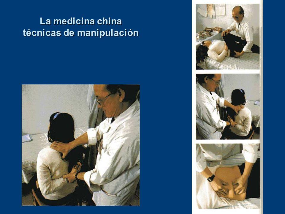 La medicina china técnicas de manipulación