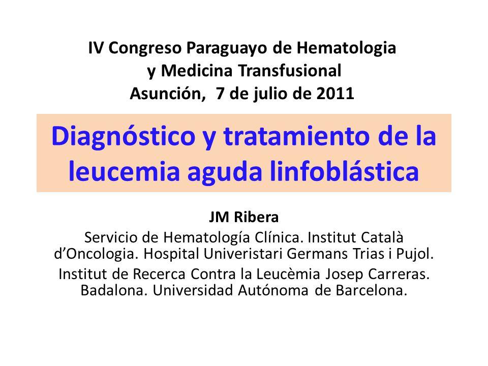 Diagnóstico y tratamiento de la leucemia aguda linfoblástica