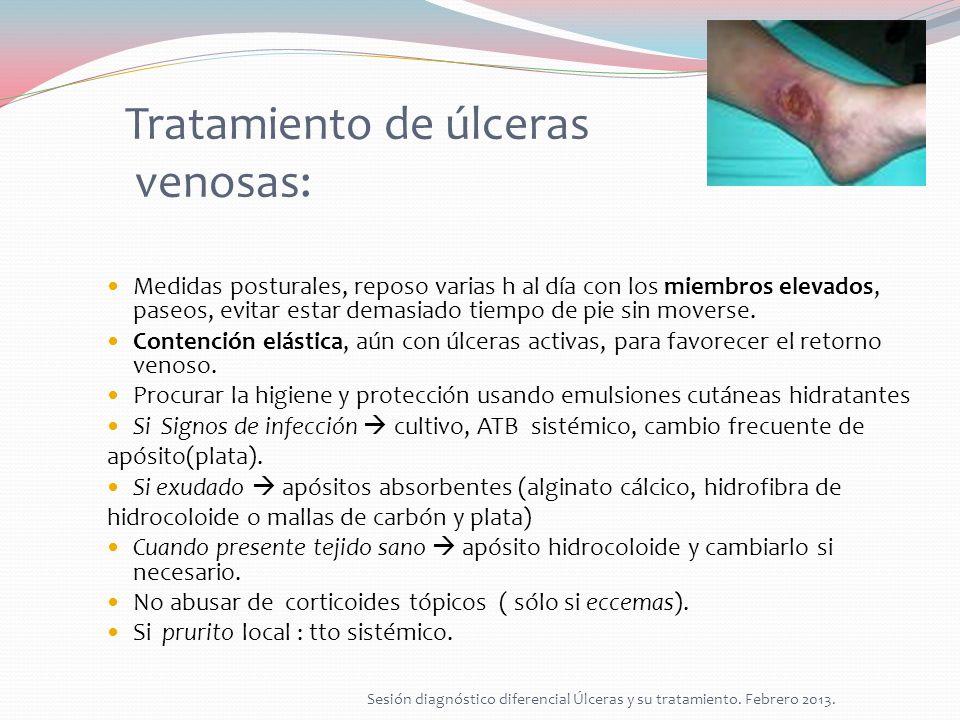 Tratamiento de úlceras venosas: