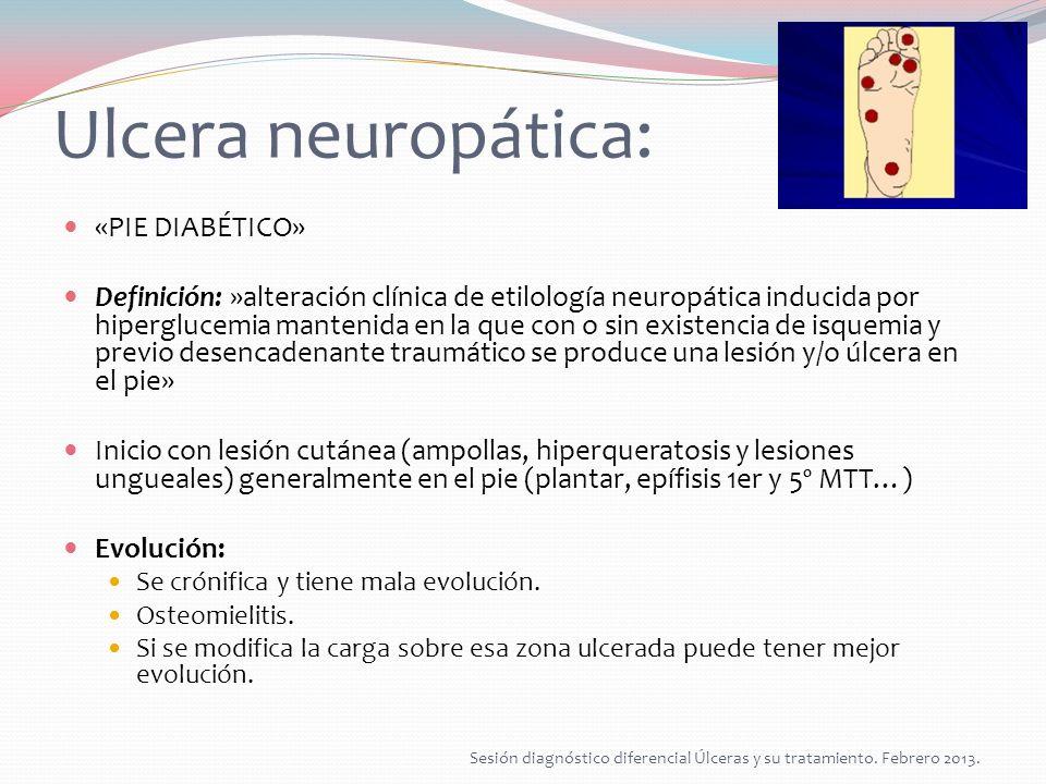 Ulcera neuropática: «PIE DIABÉTICO»