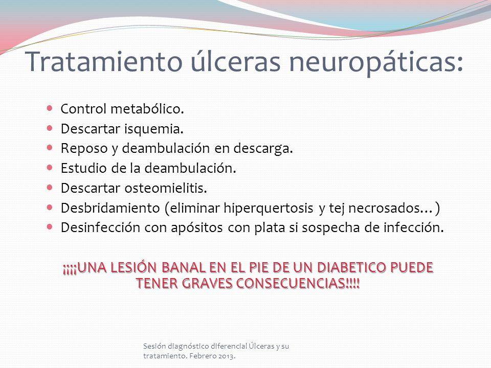 Tratamiento úlceras neuropáticas:
