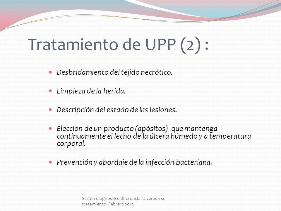 Tratamiento de UPP (2) : Desbridamiento del tejido necrótico.