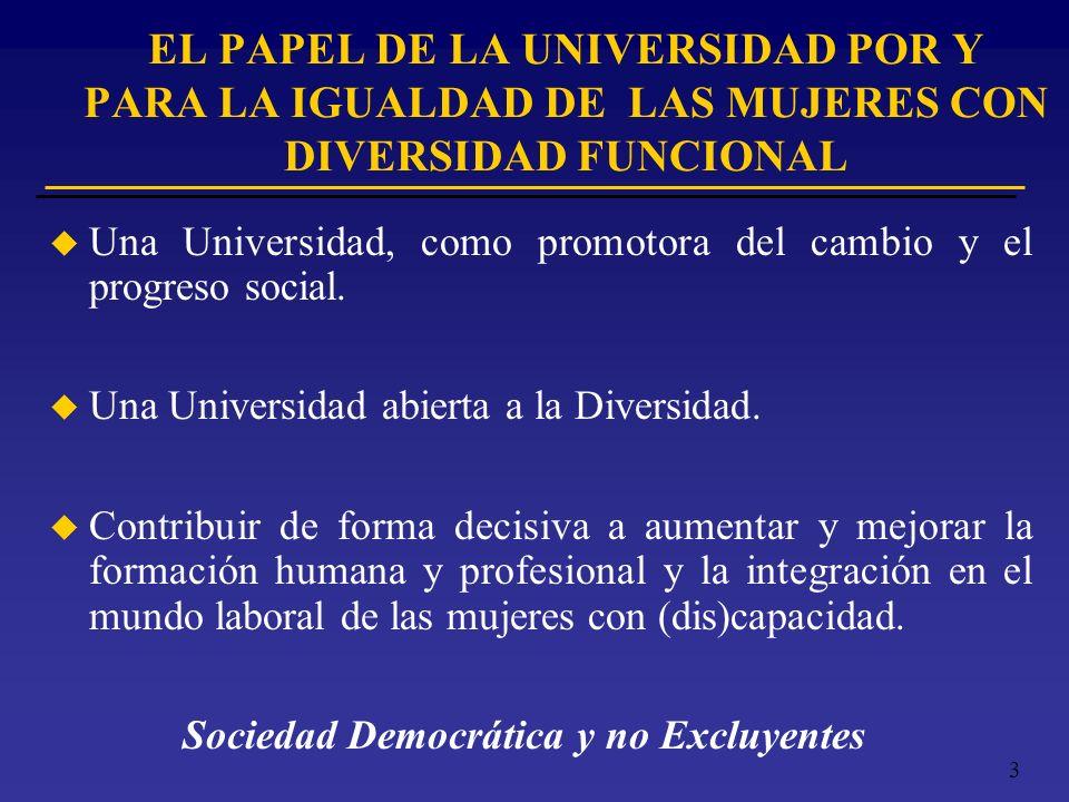 EL PAPEL DE LA UNIVERSIDAD POR Y PARA LA IGUALDAD DE LAS MUJERES CON DIVERSIDAD FUNCIONAL