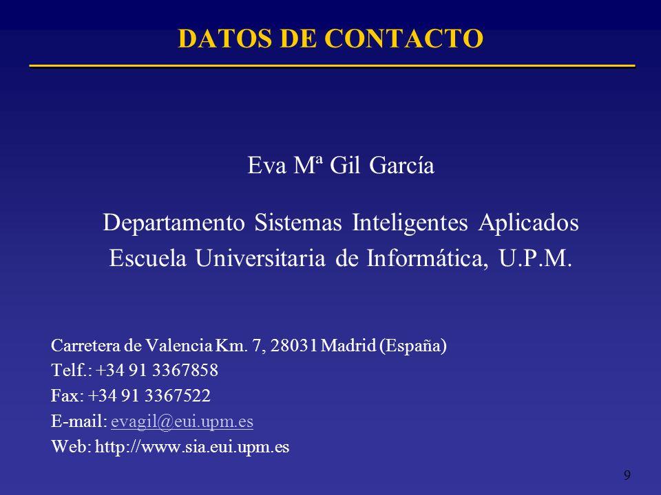 DATOS DE CONTACTO Eva Mª Gil García