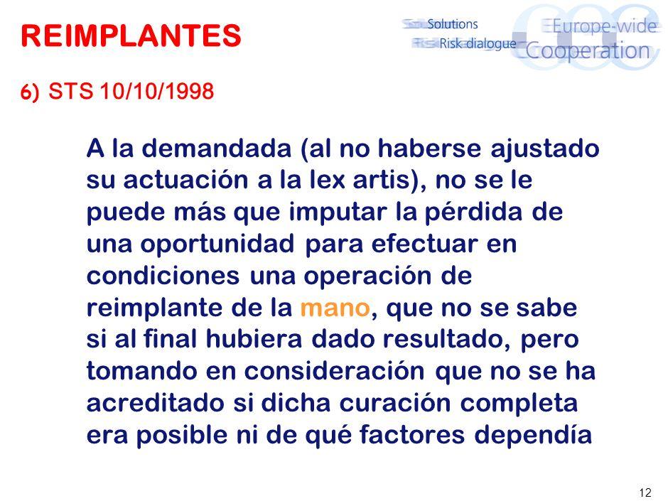 REIMPLANTES 7) STSJ LA RIOJA 26. ABR. 04 (PROPIA) avulsión dental