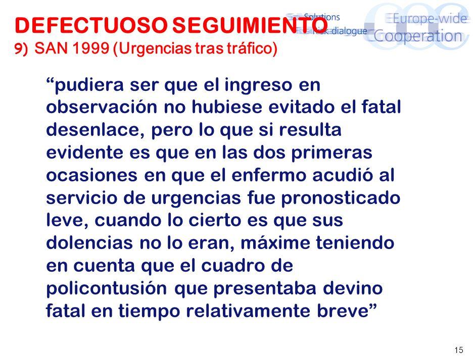 DEFECTUOSO SEGUIMIENTO 10) SAN 2. OCT