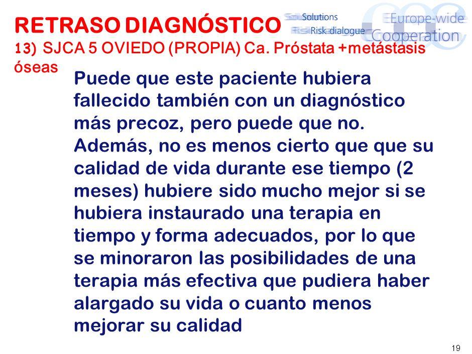 RETRASO DIAGNÓSTICO SJCA 5 OVIEDO (PROPIA) Ca
