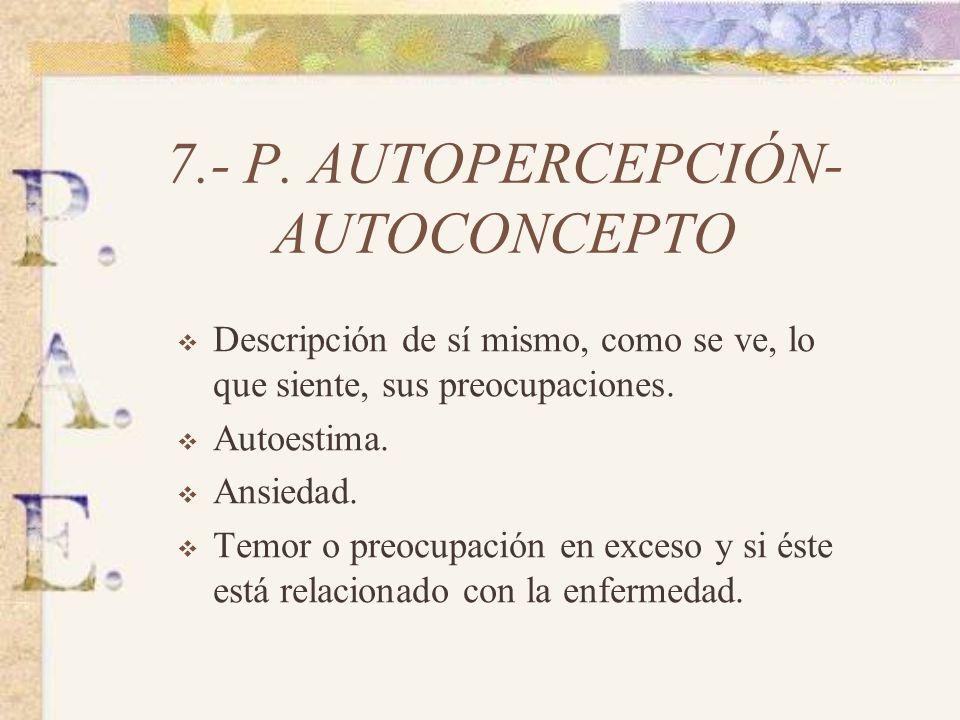 7.- P. AUTOPERCEPCIÓN- AUTOCONCEPTO