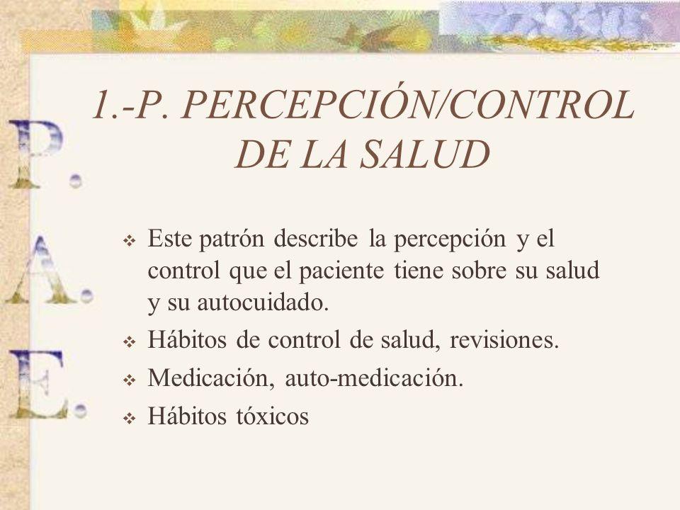 1.-P. PERCEPCIÓN/CONTROL DE LA SALUD