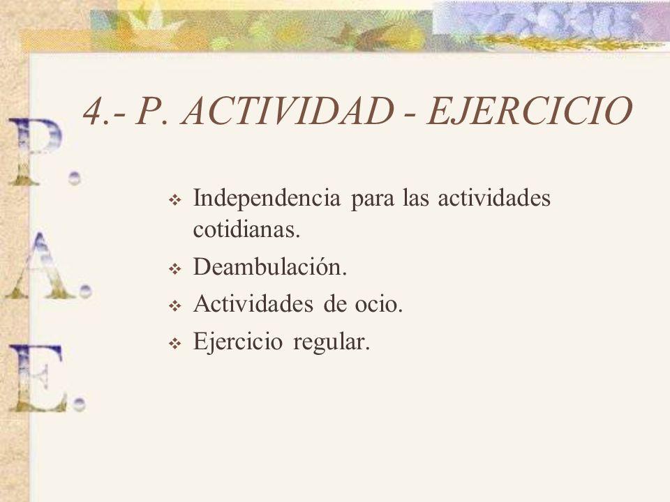 4.- P. ACTIVIDAD - EJERCICIO