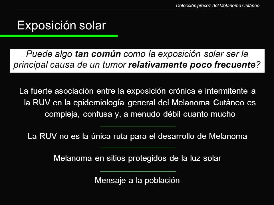 Detección precoz del Melanoma Cutáneo