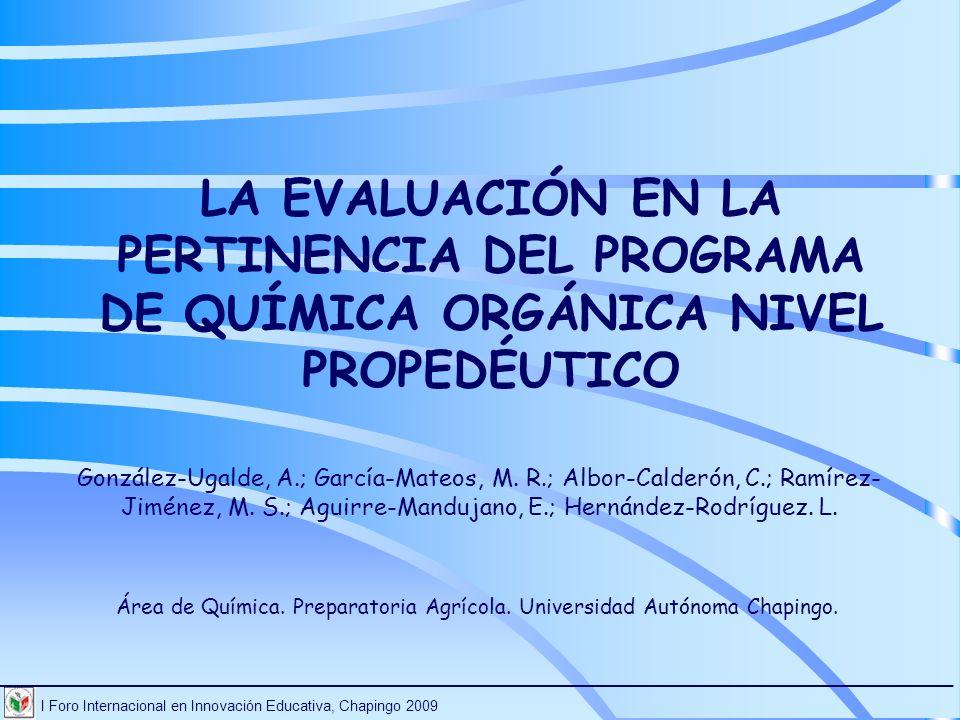 Área de Química. Preparatoria Agrícola. Universidad Autónoma Chapingo.
