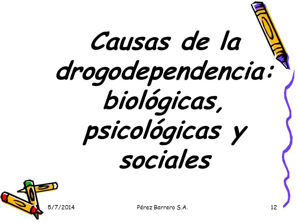 Causas de la drogodependencia: biológicas, psicológicas y sociales