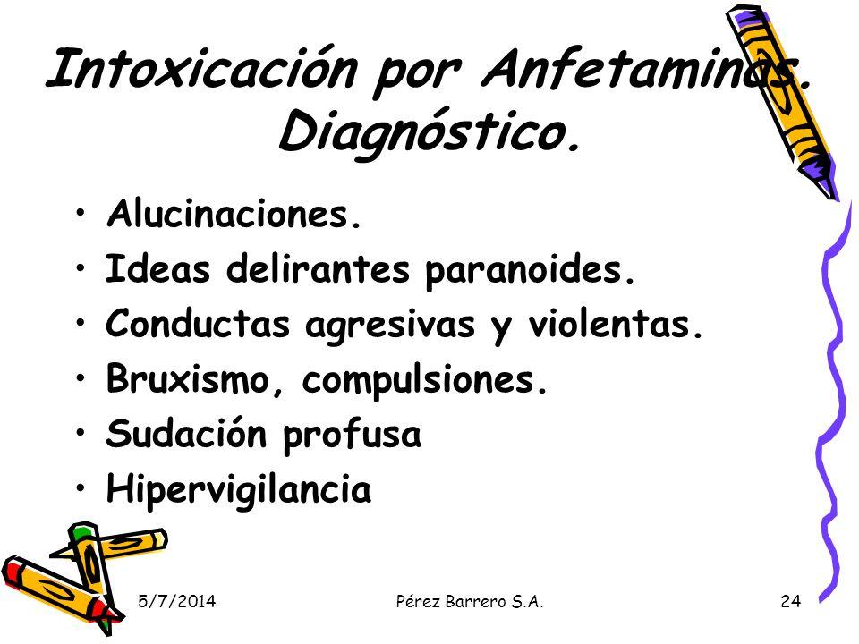 Intoxicación por Anfetaminas. Diagnóstico.