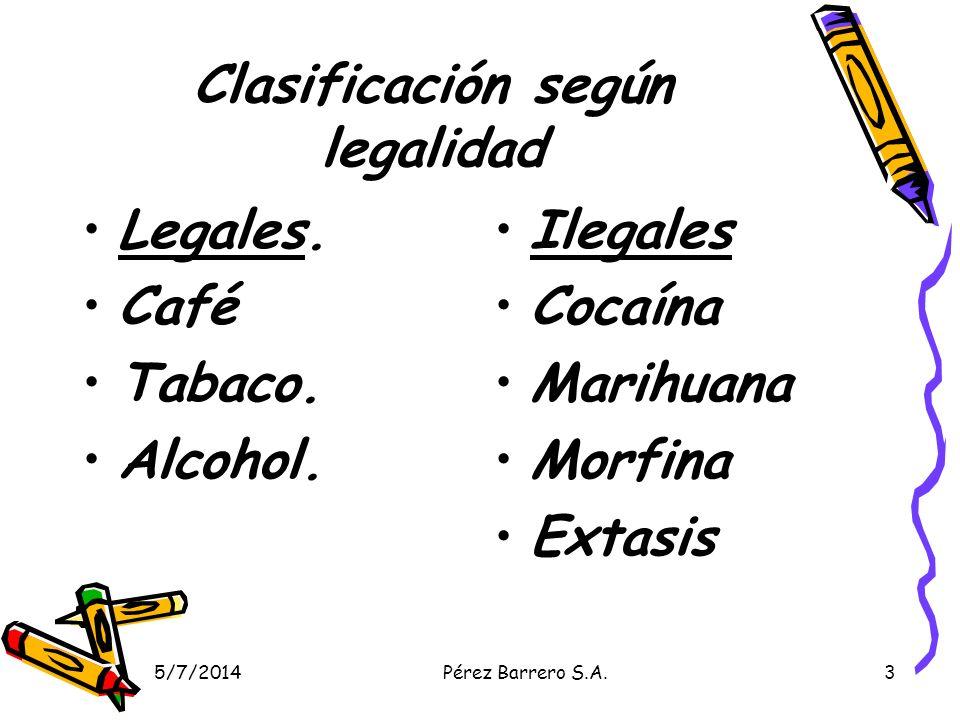 Clasificación según legalidad