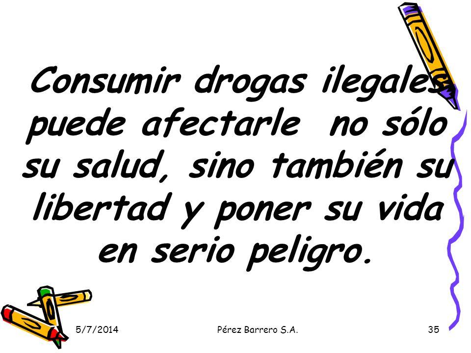 Consumir drogas ilegales puede afectarle no sólo su salud, sino también su libertad y poner su vida en serio peligro.