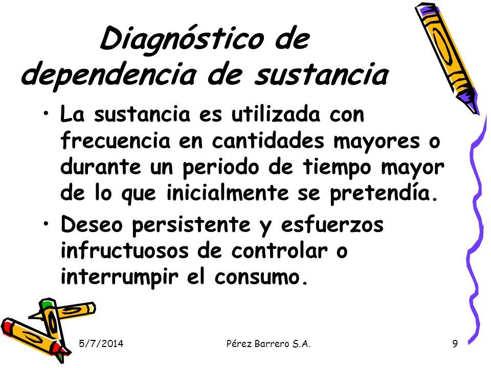 Diagnóstico de dependencia de sustancia
