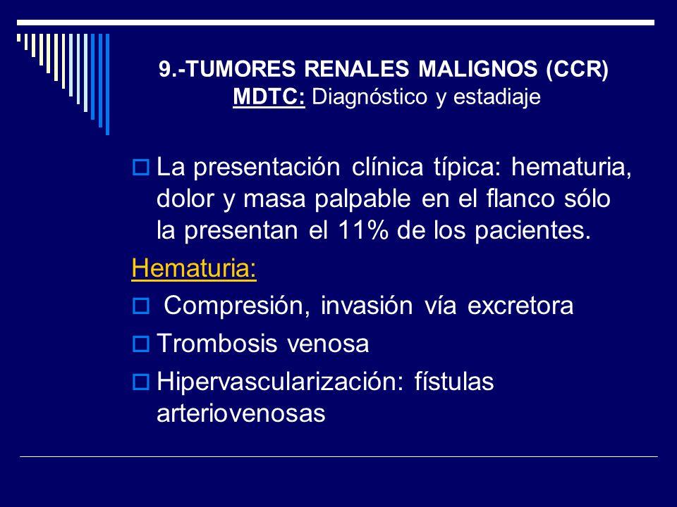 9.-TUMORES RENALES MALIGNOS (CCR) MDTC: Diagnóstico y estadiaje