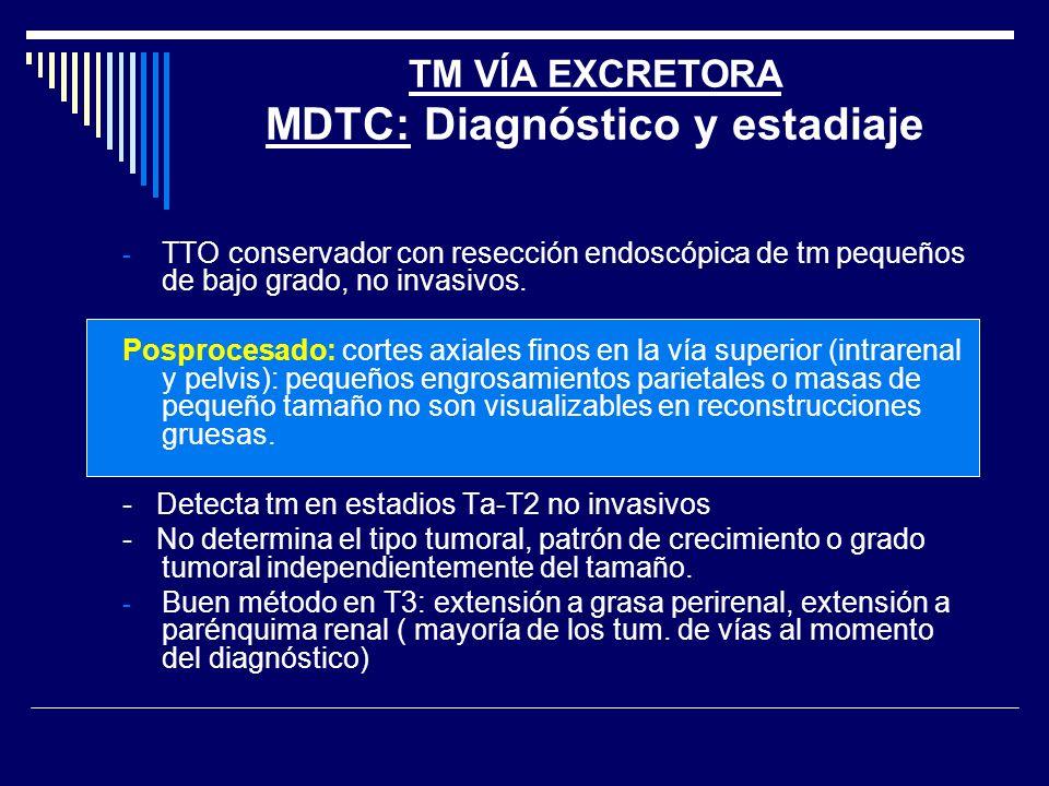 TM VÍA EXCRETORA MDTC: Diagnóstico y estadiaje