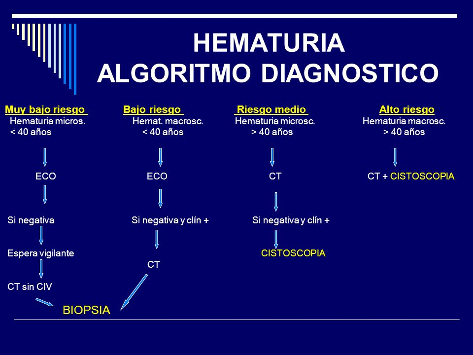 HEMATURIA ALGORITMO DIAGNOSTICO