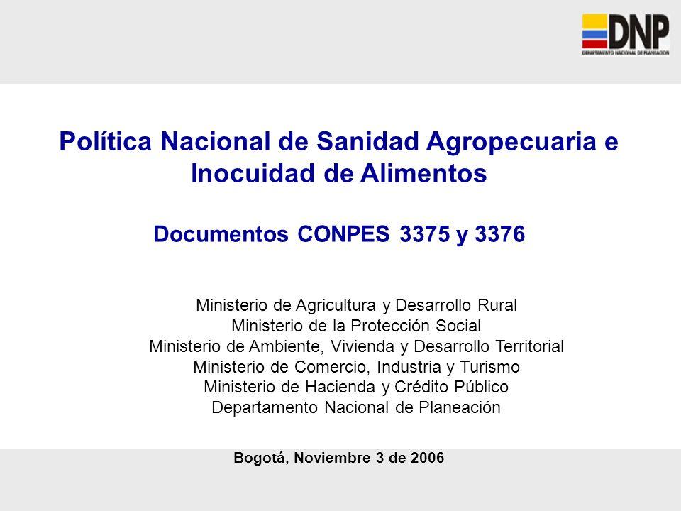 Política Nacional de Sanidad Agropecuaria e Inocuidad de Alimentos
