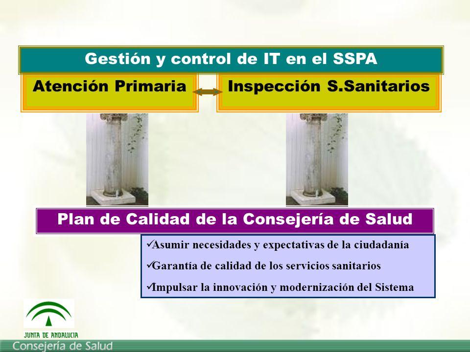Gestión y control de IT en el SSPA