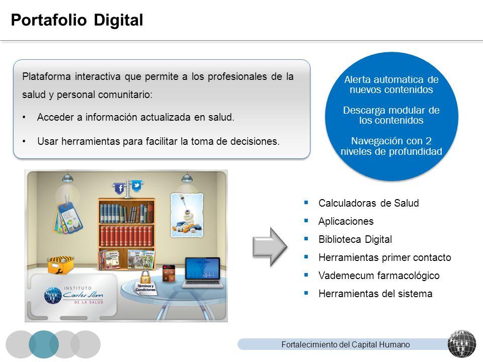 Portafolio Digital Alerta automatica de nuevos contenidos