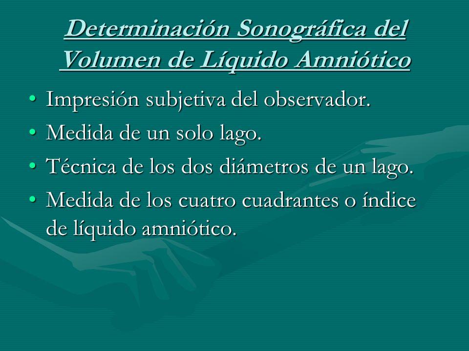 Determinación Sonográfica del Volumen de Líquido Amniótico