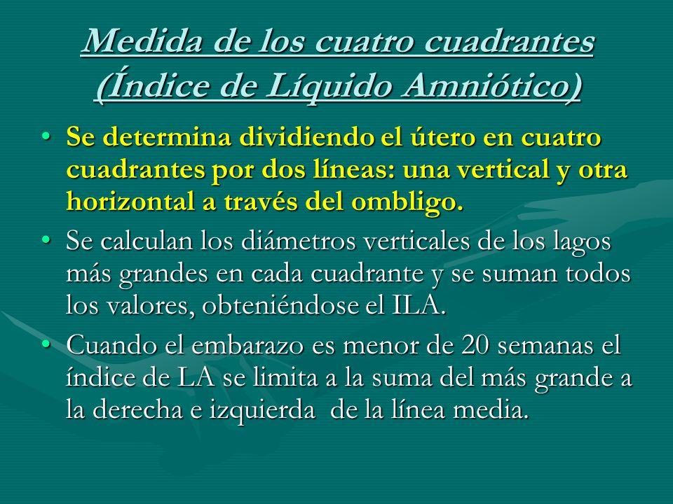 Medida de los cuatro cuadrantes (Índice de Líquido Amniótico)
