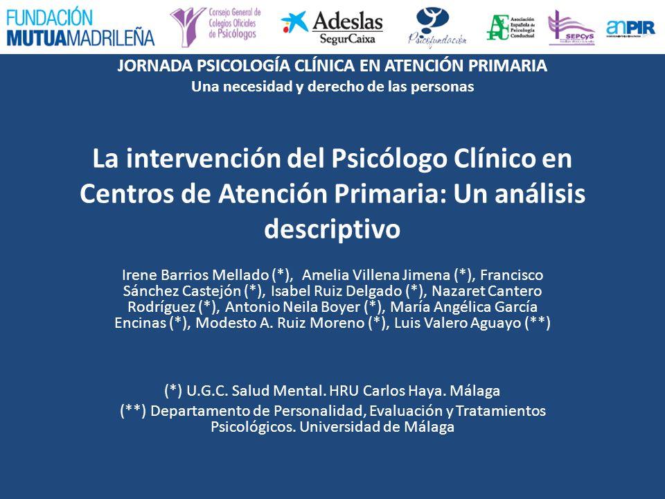 (*) U.G.C. Salud Mental. HRU Carlos Haya. Málaga
