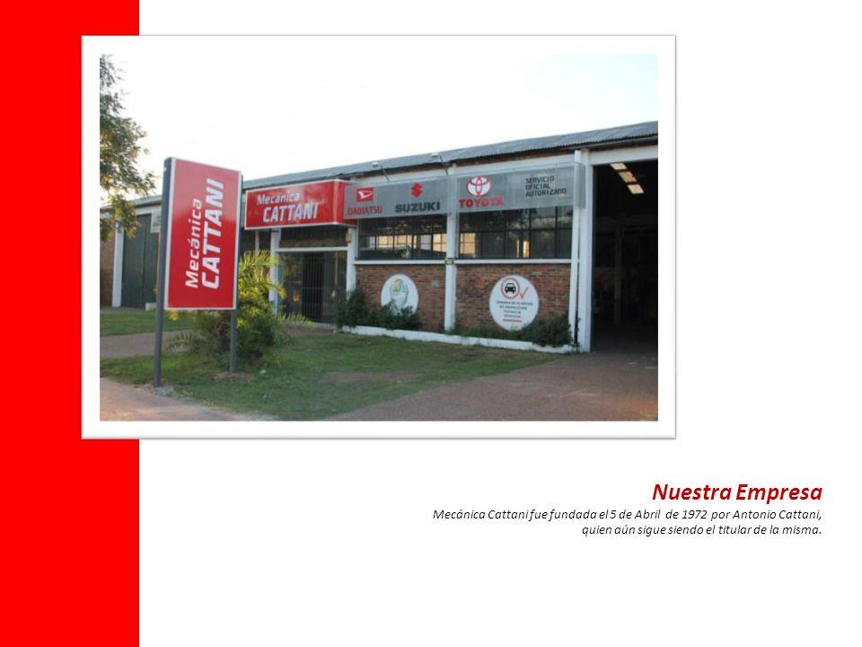 Nuestra Empresa Mecánica Cattani fue fundada el 5 de Abril de 1972 por Antonio Cattani, quien aún sigue siendo el titular de la misma.