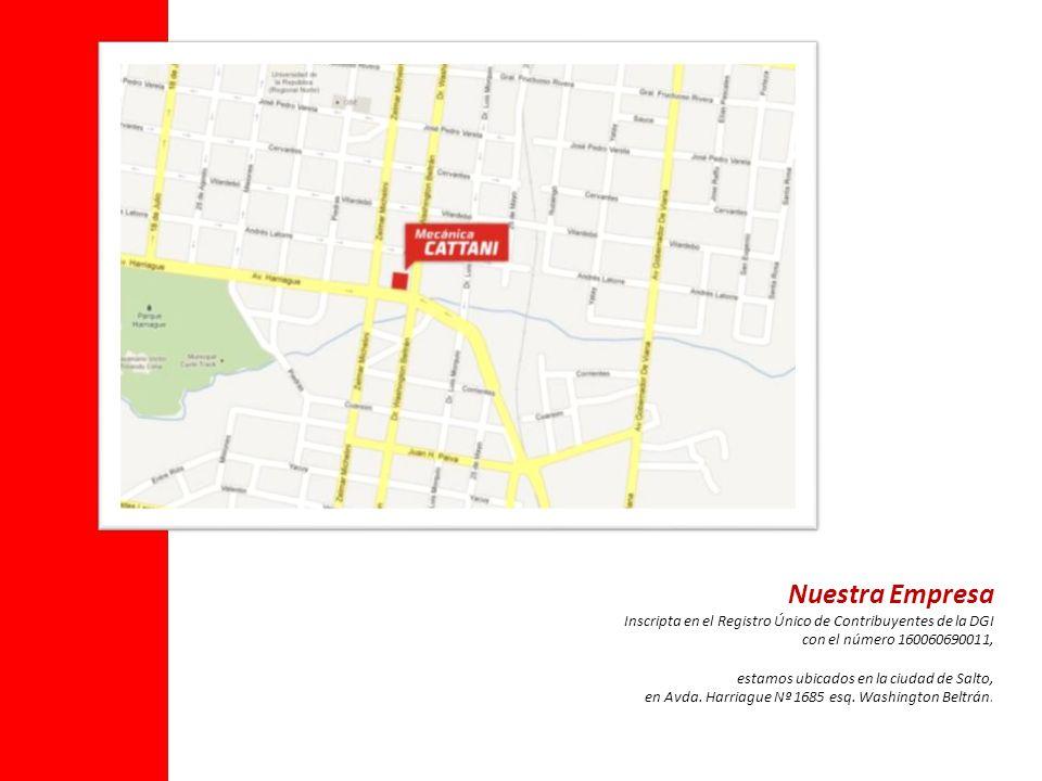 Nuestra Empresa Inscripta en el Registro Único de Contribuyentes de la DGI. con el número 160060690011,