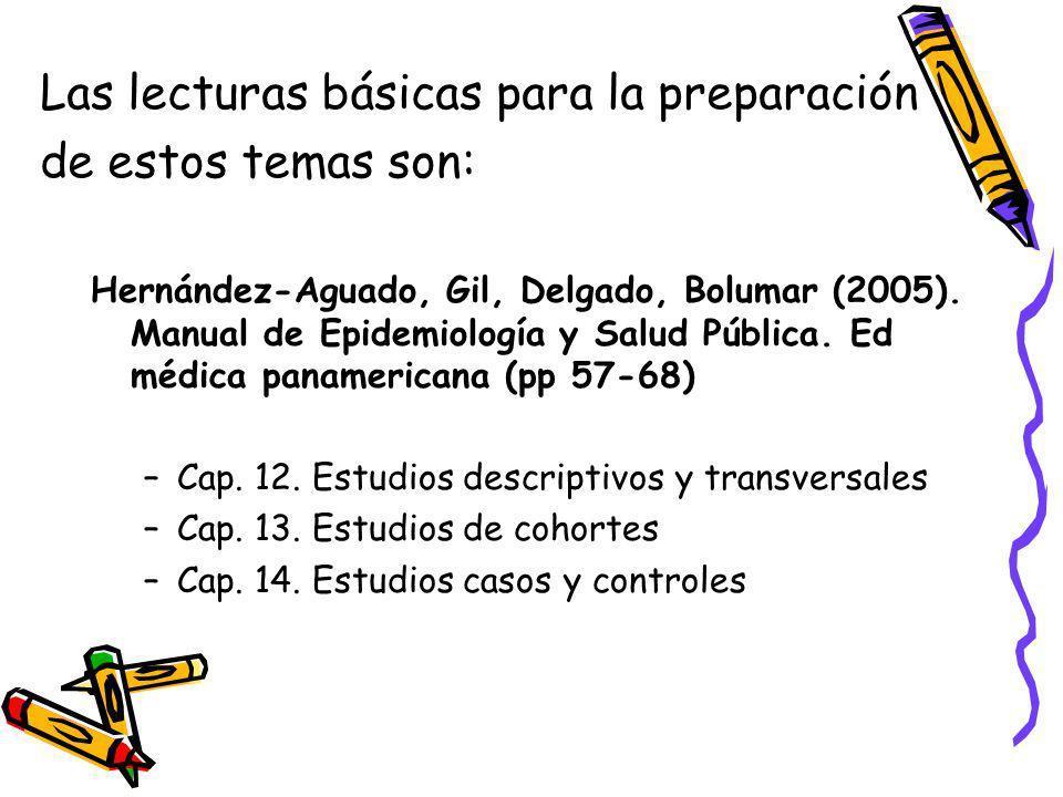 Las lecturas básicas para la preparación de estos temas son: