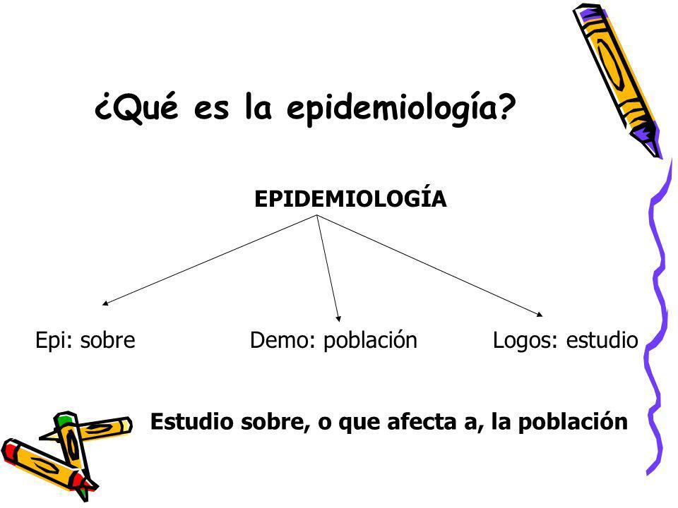 ¿Qué es la epidemiología
