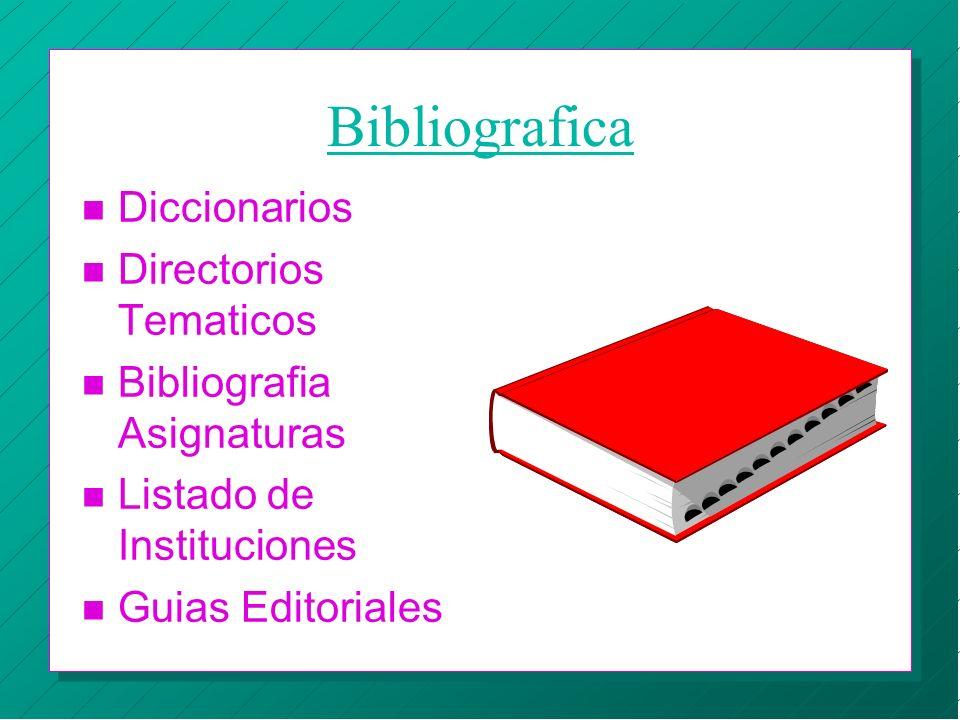 Bibliografica Diccionarios Directorios Tematicos