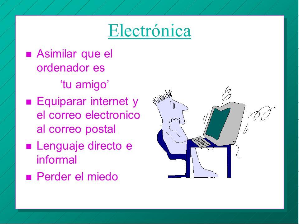 Electrónica Asimilar que el ordenador es 'tu amigo'